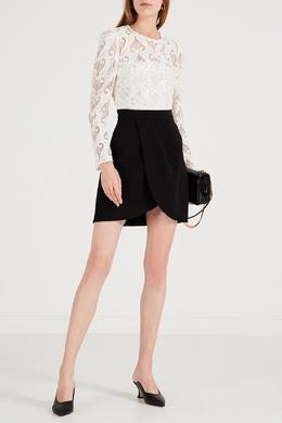 Короткое двухцветное платье Sandro 914158387