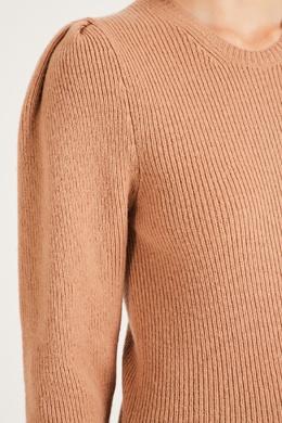 Шерстяной светло-коричневый свитер Maje 888157952