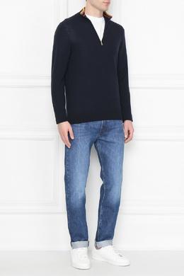 Синий свитер с яркой отделкой Paul Smith 1924159206