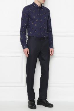 Синяя рубашка из хлопка с принтом Paul Smith 1924159218