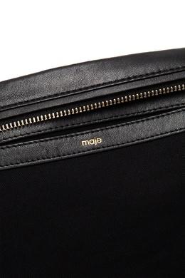 Кожаная сумка с рифленым узором Maje 888157978