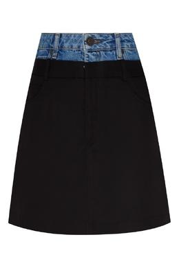Двухцветная короткая юбка Sandro 914158433