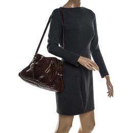 Chloe Brown Leather Paraty Shoulder Bag 232218