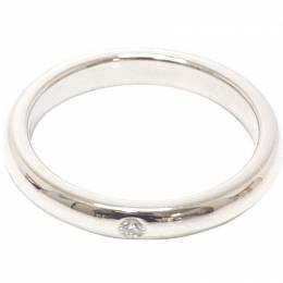 Tiffany & Co. Elsa Peretti Diamond Platinum Band Ring Size 49 235074