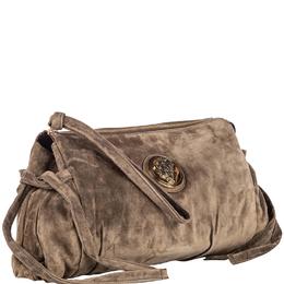 Gucci Brown Suede Hysteria Clutch Bag 234110