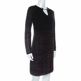 M Missoni Multicolor Ombre Pattern Knit Long Sleeve Dress M 234489