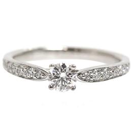 Tiffany & Co. 0.27 ct. Diamond Platinum Ring Size 49 235086