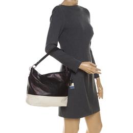 Coach Black/White Leather Baguette Shoulder Bag 229932