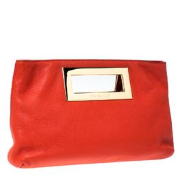 Michael Kors Orange Leather Berkley Clutch 231925