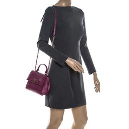 Salvatore Ferragamo Hot Pink Leather Vara Top Handle Bag 230805