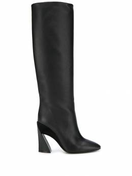Salvatore Ferragamo - knee-length structured-heel boots EAX53060999566995900