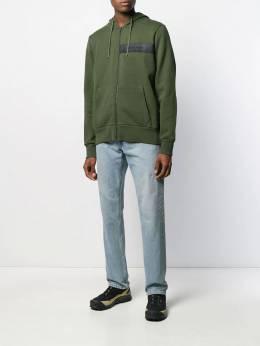 Woolrich - front logo patch zipped hoodie EL9989UT936695666565