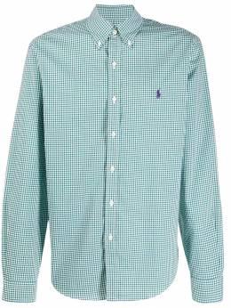 Polo Ralph Lauren - checked logo embroidered shirt 36330995555390000000