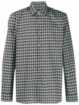 Prada - рубашка с геометричным принтом 6689URT9553559800000
