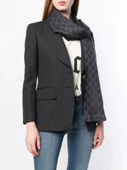 Gucci - трикотажный шарф с жаккардовым узором 5833G066935608660000