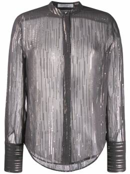 Equipment - metallic stripe shirt 665689TP639059559063