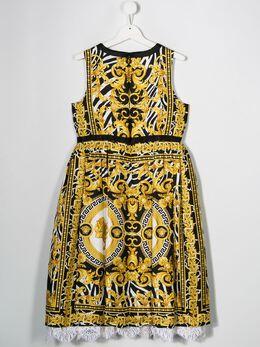Young Versace - платье с принтом Barocco 66696YA6603995599059