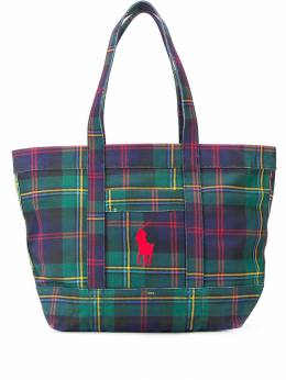 Polo Ralph Lauren - клетчатая сумка-тоут 36956895569635000000