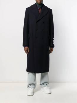 MSGM - двубортное пальто свободного кроя 6MC65X99535695595695