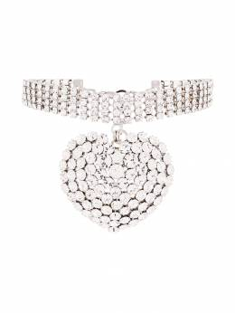 Alessandra Rich - heart charm choker necklace A9835955990960000000
