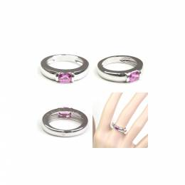 Chaumet Pink Sapphire 18K White Gold Ring Size 48 235019