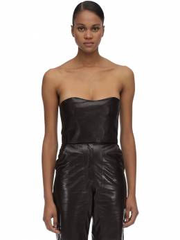 Strapless Leather Top Maryam Nassir Zadeh 70IDL0015-NzAx0