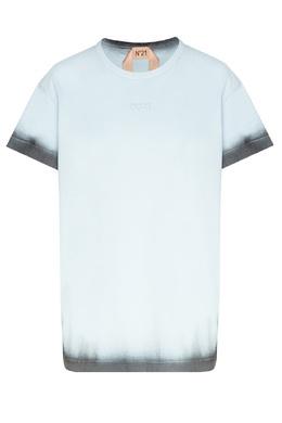 Черно-голубая футболка с логотипом No. 21 35157773