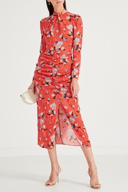 Длинное платье оранжевого цвета Self-portrait 532158962