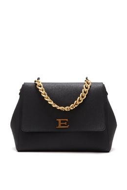Геометричная сумка из черной зерненой кожи Ermanno Ermanno Scervino 1790158860