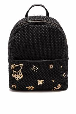 Рюкзак из тисненой кожи с декором Ermanno Ermanno Scervino 1790158867