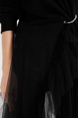 Асимметричное платье миди черного цвета Act No.1 3049158969