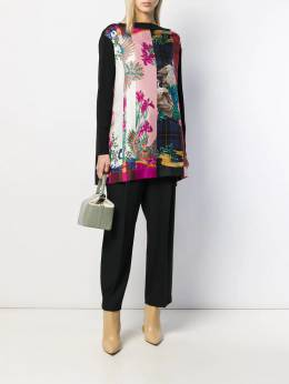 Salvatore Ferragamo - print panel knitted top 93595666336000000000