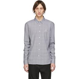 Balmain Black and White Prince Of Wales Shirt 192251M19200402GB