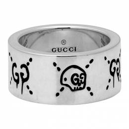 Gucci Silver Large GucciGhost Ring 201451F02401401GB