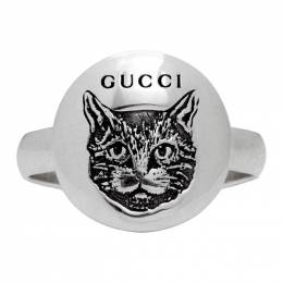 Gucci Silver Blind For Love Mystic Cat Ring 201451F02401005GB