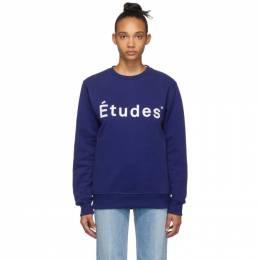 Etudes Blue Story Logo Sweatshirt 192647F11000403GB