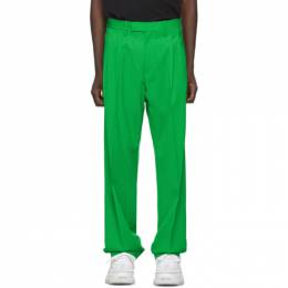 Off-White Green Wool Classic Trousers 192607M19100306GB