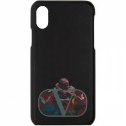 Valentino Black Valentino Garavani Undercover Edition Logo iPhone X Case 192476F03200101GB