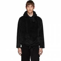 Engineered Garments Black Shaggy Hoodie 192175M20200102GB