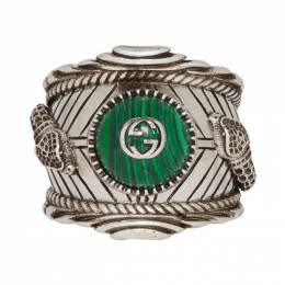 Gucci Silver and Green Gucci Garden Ring 201451M14736604GB