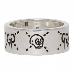 Gucci Silver GucciGhost Ring 455318 J8400