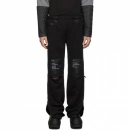 Takahiromiyashita The Soloist Black Heavy Terry Jogger Lounge Pants 192970M19000403GB