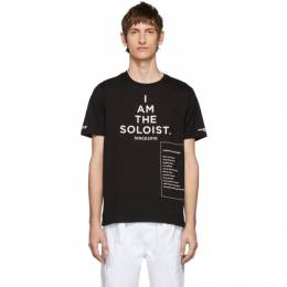Takahiromiyashita The Soloist Black High Gauge Jersey Bootleg Staff T-Shirt SC.0044AW19