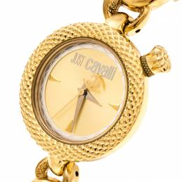 Just Cavalli Gold Plated Stainless Steel R7253137617 Women's Wristwatch 34 mm 234956