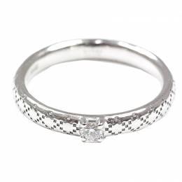 Gucci Diamantissima Diamond 18K White Gold Ring Size 47 235030