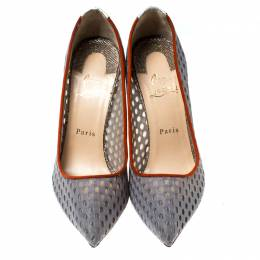Christian Louboutin Grey Mesh So Kate Pumps Size 39 236247
