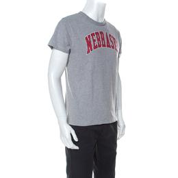 Off-White Grey Jersey Nebraska T-Shirt XS 235950