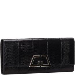 Gucci Black G Night Python Leather Clutch Bag 231537