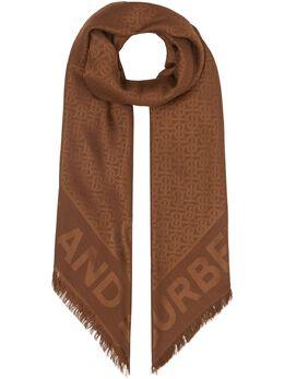 Burberry - жаккардовый шарф с монограммой 96039506939800000000