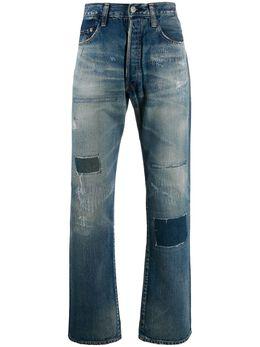Junya Watanabe джинсы прямого кроя с эффектом потертости WDP211051